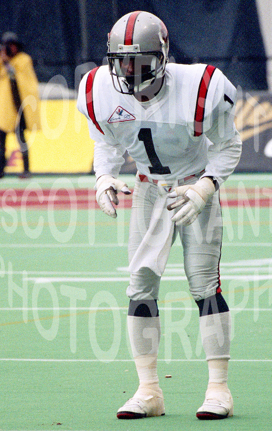 Andre Francis BC Lions 1992. Photo John Bradley