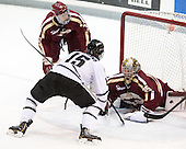 Patch Alber (BC - 3), Steven McParland (PC - 15), Parker Milner (BC - 35) - The Providence College Friars tied the visiting Boston College Eagles 3-3 on Friday, December 7, 2012, at Schneider Arena in Providence, Rhode Island.