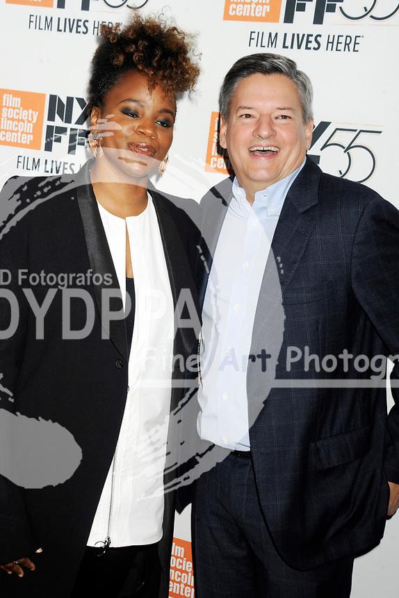Dee Rees und Ted Sarandos bei der Premiere von 'Mudbound' auf dem 55. New York Film Festival in der Alice Tully Hall. New York, 12.10.2017