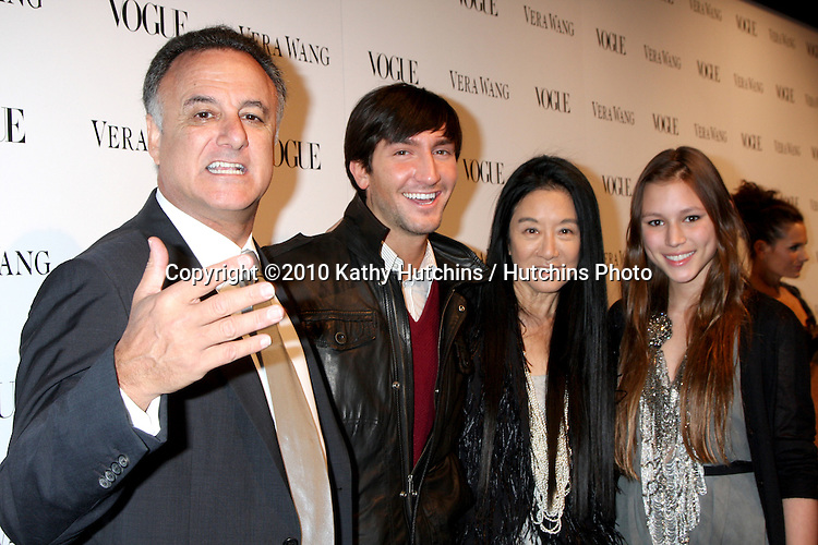 Evan Lysacek; Vera Wang & Her family.arriving at the Vera Wang Los Angeles Store Opening hosted by Vouge Magazine.Vera Wang Store, 8445 Melrose Ave, .Los Angeles, CA.March 2, 2010.©2010 Kathy Hutchins / Hutchins Photo....