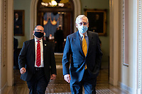 United States Senate Majority Leader Mitch McConnell (Republican of Kentucky) walks to his office at the United States Capitol in Washington D.C., U.S. on Thursday, May 21, 2020. Credit: Stefani Reynolds / CNP /MediaPunch
