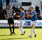 Steven Naismith celebrates his second goal of the match