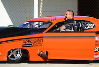 Sept 9, 2012; Clermont, IN, USA: NHRA pro mod driver Todd Tutterow during the US Nationals at Lucas Oil Raceway. Mandatory Credit: Mark J. Rebilas-