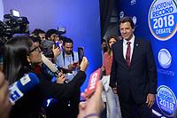 SÃO PAULO, SP - 30.09.2018 - ELEIÇÕES-2018 - Fernando Haddad, candidato à Presidência da República pelo PT, durante debate da Rede Record, realizado na sede da emissora no bairro da Barra Funda em São Paulo, na noite deste domingo, 30(Foto: Levi Bianco/Brazil Photo Press)