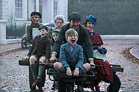 Mary Poppins Returns (2018) <br /> Emily Mortimer, Nathanael Saleh, Pixie Davies, Julie Walters, Lin-Manuel Miranda, Joel Dawson &amp; Emily Blunt<br /> *Filmstill - Editorial Use Only*<br /> CAP/KFS<br /> Image supplied by Capital Pictures