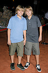 Actors Cole Sprouse and Dylan Sprouse arrive at the Disney-Pixar's WALL-E Premiere on June 21, 2008 at Greek Theatre in Los Angeles, California.
