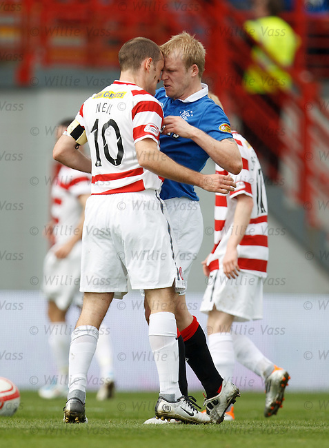 Alex Neil and Steven Naismith square up to each other