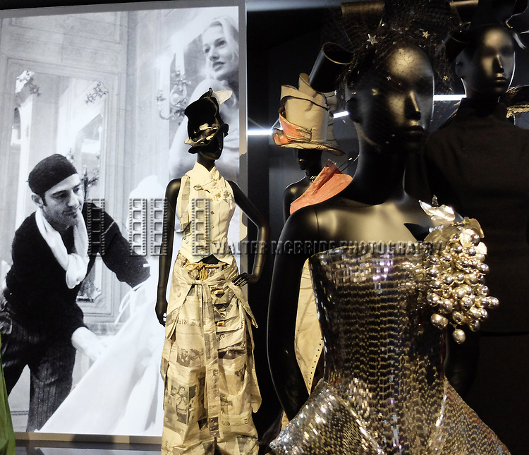 John Galliano - Dior exhibition celebrating the seventieth anniversary of the Christian Dior fashion house on July 15, 2017 in Paris, France. The exhibition at the Museum of Decorative Arts (Musee des Arts Decoratifs) is a retrospective presenting some 400 dresses, and runs through July 15, 2017 - January 7, 2018.