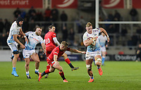 7th February 2020; AJ Bell Stadium, Salford, Lancashire, England; Premiership Cup Rugby, Sale Sharks versus Saracens;  Dan du Preez of Sale Sharks runs in open field