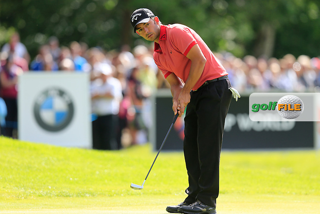 Pablo LARRAZABAL (ESP) during the final round of the BMW PGA championship, Wentworth Golf Club, Virginia Water, London.<br /> Picture: Fran Caffrey www.golffile.ie