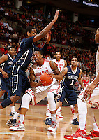Ohio State Buckeyes guard Lenzelle Smith Jr. (32) runs into Penn State Nittany Lions center Jordan Dickerson (32) in the second halfat Value City Arena in Columbus Jan. 29, 2013 (Dispatch photo by Eric Albrecht)