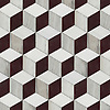 Euclid Grand, a hand-cut stone mosaic, shown in Red Lake polished, Afyon White (p), and Horizon honed.