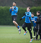 Jamie Burrows training with the first team