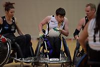 National Wheelchair Rugby Tournament at Te Rauparaha Arena, Porirua, New Zealand on Sunday 11 June 2017.<br /> Photo by Masanori Udagawa<br /> www.photowellington.photoshelter.com.