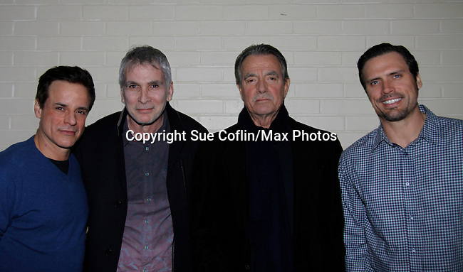 Christian LeBlanc; Jamies Michael Gregary; Eric Braeden; Joshua Morrow - The Young and The Restless - Genoa City Live celebrating over 40 years with on February 27. 2016 at The Lyric Opera House, Baltimore, Maryland on stage with questions and answers followed with autographs and photos in the theater.  (Photo by Sue Coflin/Max Photos)
