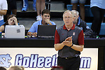 10 September 2015: Stanford head coach John Dunning. The University of North Carolina Tar Heels hosted the Stanford University Cardinal at Carmichael Arena in Chapel Hill, NC in a 2015 NCAA Division I Women's Volleyball contest. North Carolina won the match 25-17, 27-25, 25-22.
