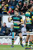9th September 2017, Franklins Gardens, Northampton, England; Aviva Premiership Rugby, Northampton Saints versus Leicester Tigers;  Debutant Cobus Reinach of Northampton Saints