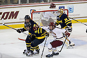 Jordan Heywood (Merrimack - 4), Connor Toomey (Merrimack - 11), Patrick Brown (BC - 23), Sam Marotta (Merrimack - 30) - The Boston College Eagles defeated the visiting Merrimack College Warriors 4-3 on Friday, November 16, 2012, at Kelley Rink in Conte Forum in Chestnut Hill, Massachusetts.