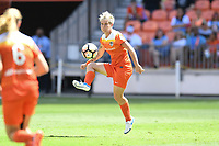 Houston, TX - Saturday May 13, 2017: Houston Dash defender Janine Van Wyk (55) during a regular season National Women's Soccer League (NWSL) match between the Houston Dash and Sky Blue FC at BBVA Compass Stadium. Sky Blue won the game 3-1.