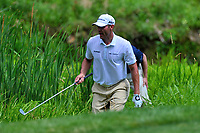 Potomac, MD - July 1, 2017: Shawn Stefani tries to find his ball in the hazard along the 11th fairway during Round 3 of professional play at the Quicken Loans National Tournament at TPC Potomac at Avenel Farm in Potomac, MD, July 1, 2017.  (Photo by Don Baxter/Media Images International)