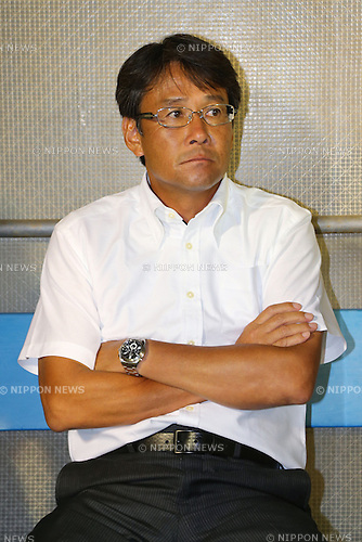 Takashi Sekizuka Head Coach (Jubilo), <br /> August 24, 2013 - Football / Soccer : <br /> 2013 J.LEAGUE Division 1, 22nd Sec <br /> match between Jubilo Iwata 0-0 F.C.Tokyo <br /> at YAMAHA Stadium, Shizuoka, Japan. <br /> (Photo by Daiju Kitamura/AFLO SPORT) [1045]