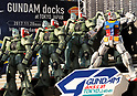 Gundam docks at Tokyo Japan exhibition launched
