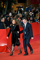 Roma, 15 ottobre, 2009. Il Sindaco di Roma Gianni Alemanno con la moglie.<br />