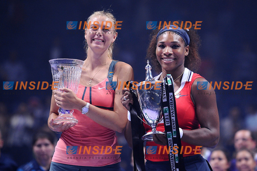 Serena Williams (USA).Maria Sharapova (RUS) .Istanbul 28/10/2012 .Tennis Masters Donne 2012.Foto Virginie Bouyer / Panoramic / Insidefoto.ITALY ONLY