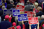 Signs on the floor at the 2016 Republican National Convention held at the Quicken Loans Arena in Cleveland, Ohio on Thursday, July 21, 2016.<br /> Credit: Ron Sachs / CNP<br /> (RESTRICTION: NO New York or New Jersey Newspapers or newspapers within a 75 mile radius of New York City)