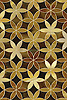 Fiona, a waterjet mosaic shown in Tiger's Eye and Tortoise Shell jewel glass, is part of the Silk Road collection by Sara Baldwin for New Ravenna.