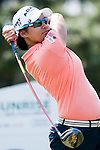 TAOYUAN, TAIWAN - OCTOBER 22: Yani Tseng of Taiwan tees off on the 3th hole during day three of the LPGA Imperial Springs Taiwan Championship at Sunrise Golf Course on October 22, 2011 in Taoyuan, Taiwan. Photo by Victor Fraile / The Power of Sport Images