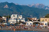 Italien, Toskana, Marina di Massa, Strand
