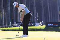 Richard McEvoy (ENG) birdie putt on the 5th green during Saturday's Round 3 of the 2018 Turkish Airlines Open hosted by Regnum Carya Golf &amp; Spa Resort, Antalya, Turkey. 3rd November 2018.<br /> Picture: Eoin Clarke | Golffile<br /> <br /> <br /> All photos usage must carry mandatory copyright credit (&copy; Golffile | Eoin Clarke)