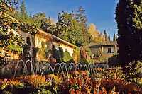 Spain. Granada. Generalife in the Alhambra. Andalucia/Andalusia