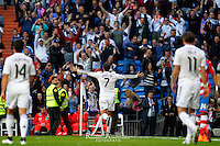 Real Madrid´s Portuguese forward Cristiano Ronaldo celebrating his fifht goal