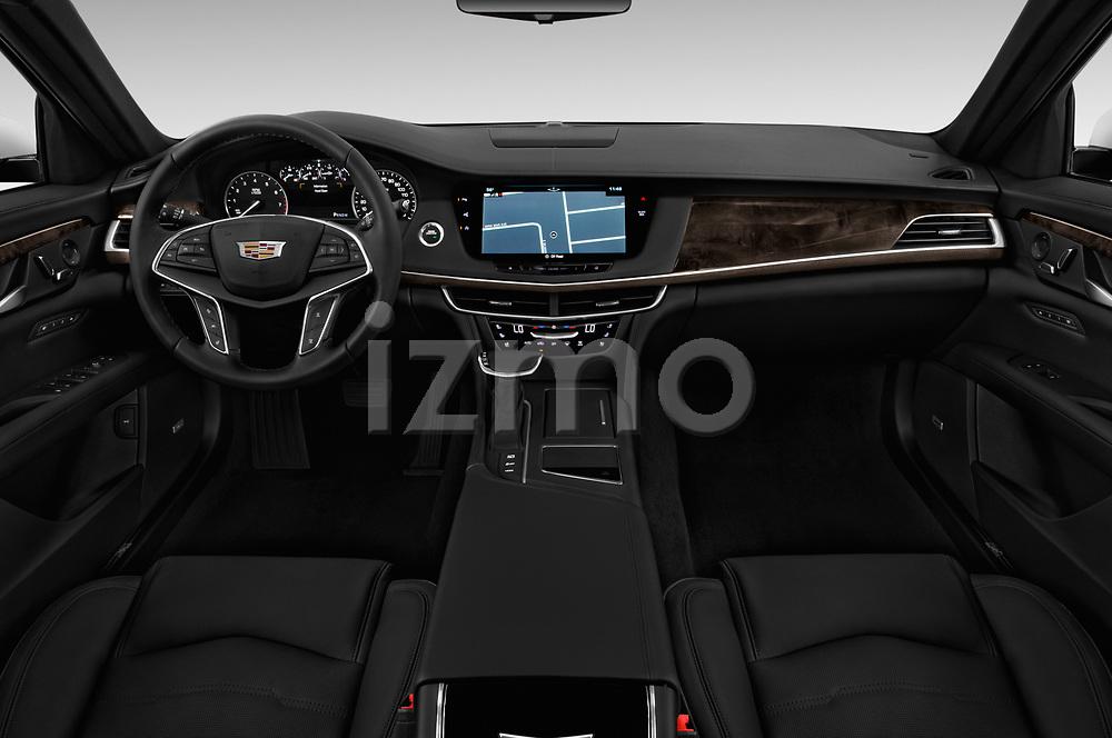 Stock photo of straight dashboard view of 2017 Cadillac CT6 RWD 4 Door Sedan Dashboard