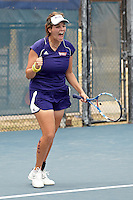 SAN ANTONIO, TX - MAY 1, 2011: The Northwestern State University Demons vs. the University of Texas at Arlington Mavericks in the Southland Conference Women's Tennis Tournament Championship at the UTSA Tennis Center. (Photo by Jeff Huehn)