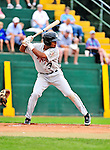 25 July 2010: Tri-City ValleyCats outfielder Wilton Infante in action against the Vermont Lake Monsters at Centennial Field in Burlington, Vermont. The ValleyCats came from behind to defeat the Lake Monsters 10-8 in NY Penn League action. Mandatory Credit: Ed Wolfstein Photo