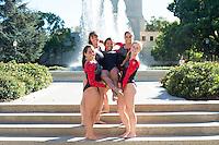 STANFORD, CA - Juniors of Stanford University Women's Gymnastics.
