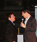 Dale Badway presents the Shining Star Award to Broadway's  James Barbour, the star of The Phantom of the Opera with The Phantom signed poster at The 29th Annual Jane Elissa Extravaganza which benefits The Jane Elissa Charitable Fund for Leukemia & Lymphoma Cancer, Broadway Cares and other charities on November 14, 2016 at the New York Marriott Hotel, New York City presented by Bridgehampton National Bank and Walgreens.  The event is a Cabaret with singer Sean McDermott (Guiding Light) (Photo by Sue Coflin/Max Photos)