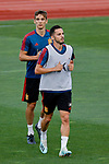 Diego Llorente and Pablo Sarabia during the Trainee Session at Ciudad del Futbol in Las Rozas, Spain. September 02, 2019. (ALTERPHOTOS/A. Perez Meca)