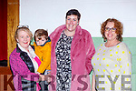 Pauline Evans, Ronan McGillicudddy, Joan Evans and Kayrena O'Dowd at the Keel Community hall reopening on Sunday