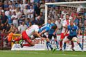 Jon Ashton of Stevenage heads for goal<br />  Stevenage v Leeds United - Pre-season friendly - Lamex Stadium, Stevenage - 23rd July, 2013<br />  © Kevin Coleman 2013