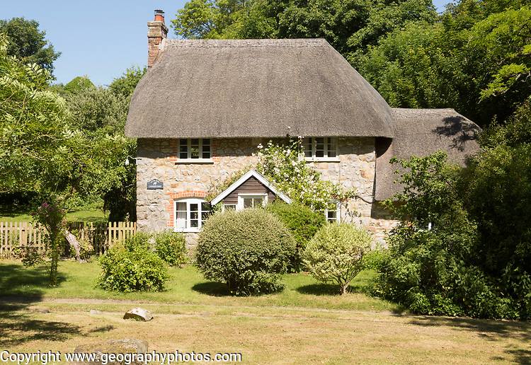 Historic attractive thatched cottage, Lockeridge Dene, near Marlborough, Wiltshire, England, UK
