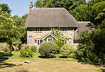 Historic attractive thatched cottage, Lockeridge Dene, near Marlborough, Wiltshire, England, UK