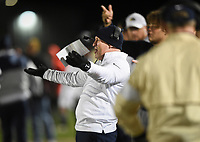 NWA Democrat-Gazette/CHARLIE KAIJO Bentonville West head coach Bryan Pratt reacts, Friday, November 8, 2019 during a football game at Bentonville West High School in Centerton.