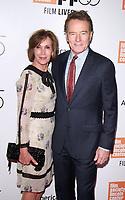 NEW YORK, NY September 28, 2017  Robin Dearden, Bryan Cranston attend 55th New York Film Festival opening night premiere of Last Flag Flying at Alice Tully Hall Lincoln Center in New York September 28,  2017.Credit:RW/MediaPunch
