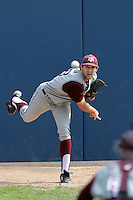 Michael Wacha #38 of the Texas A&M Aggies warms up before pitching against the Pepperdine Waves at Eddy D. Field Stadium on March 23, 2012 in Malibu,California. Texas A&M defeated Pepperdine 4-0.(Larry Goren/Four Seam Images)