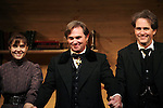 Maite Alina, Richard Thomas and Boyd Gaines during the Broadway Opening Night Performance Curtain Call for  'An Enemy of the People' at the Samuel J. Friedman Theatre in New York. Sept. 27, 2012