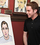 Ben Platt during the Ben Platt Sardi's Portrait unveiling at Sardi's on May 30, 2017 in New York City.